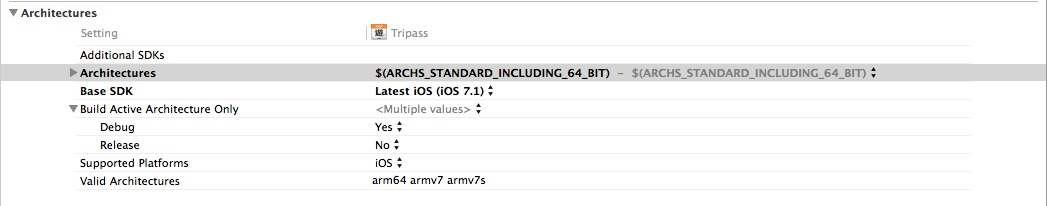 xcode 5 1 64bit